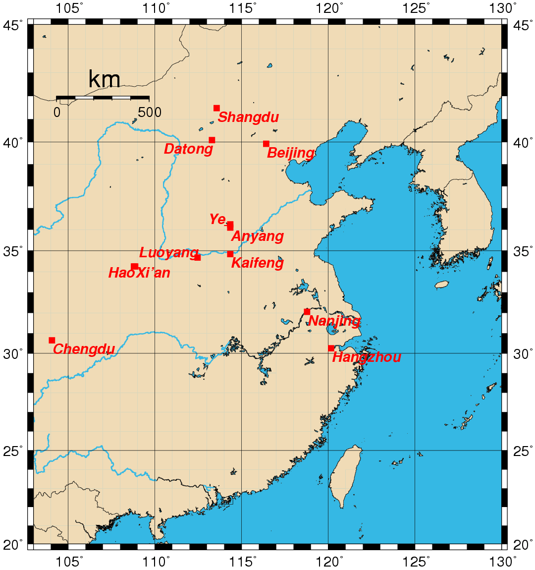 Historical Capitals Of China