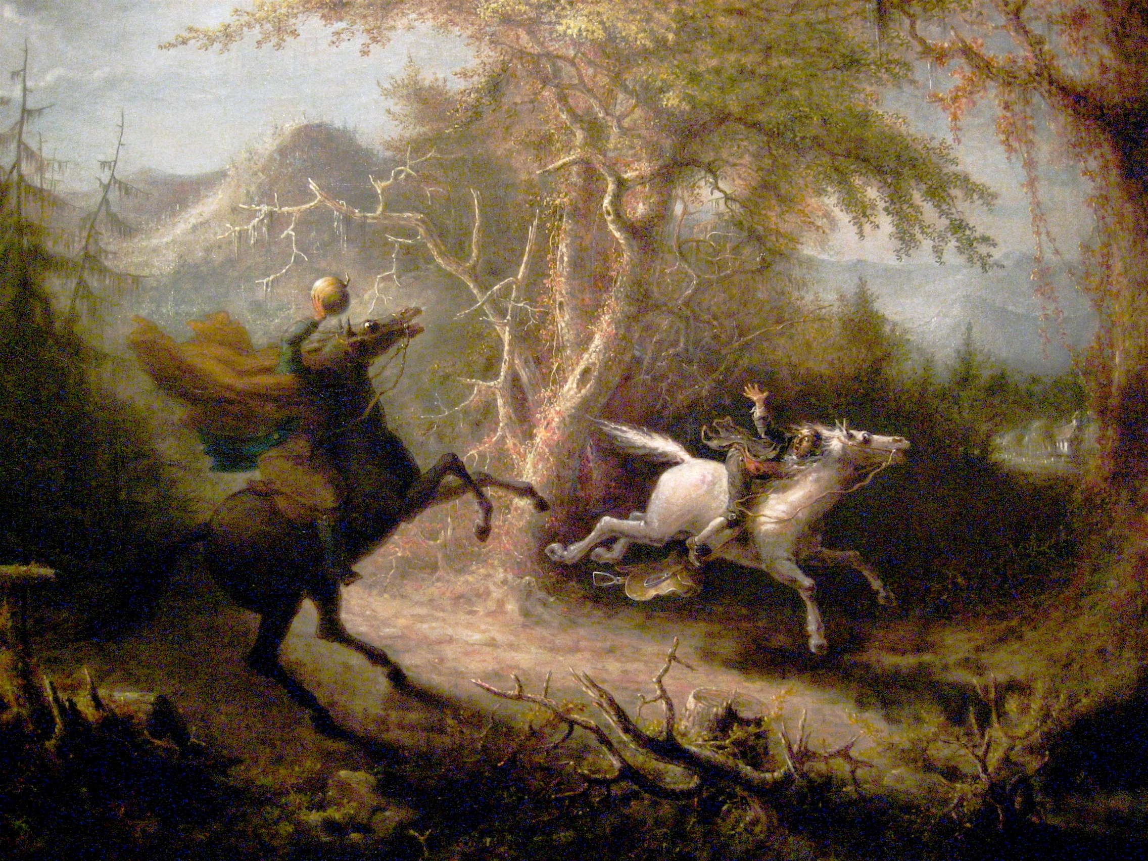 The Headless Horseman Pursuing Ichabod Crane (1858) by John Quidor