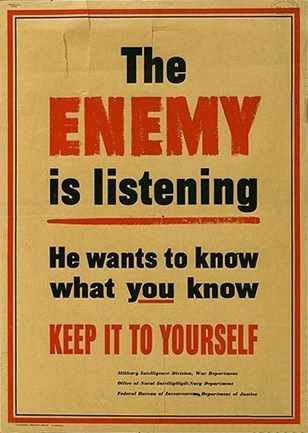 WWII-era OPSEC poster