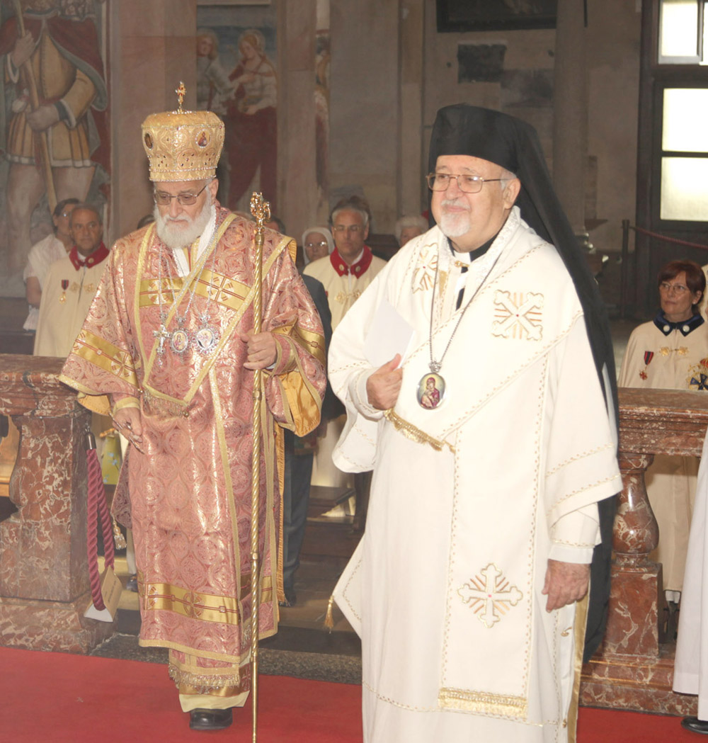 Rei Momo, Melkite Patriarch Gregory III Laham and Melkite Archbishop Jules Zerey
