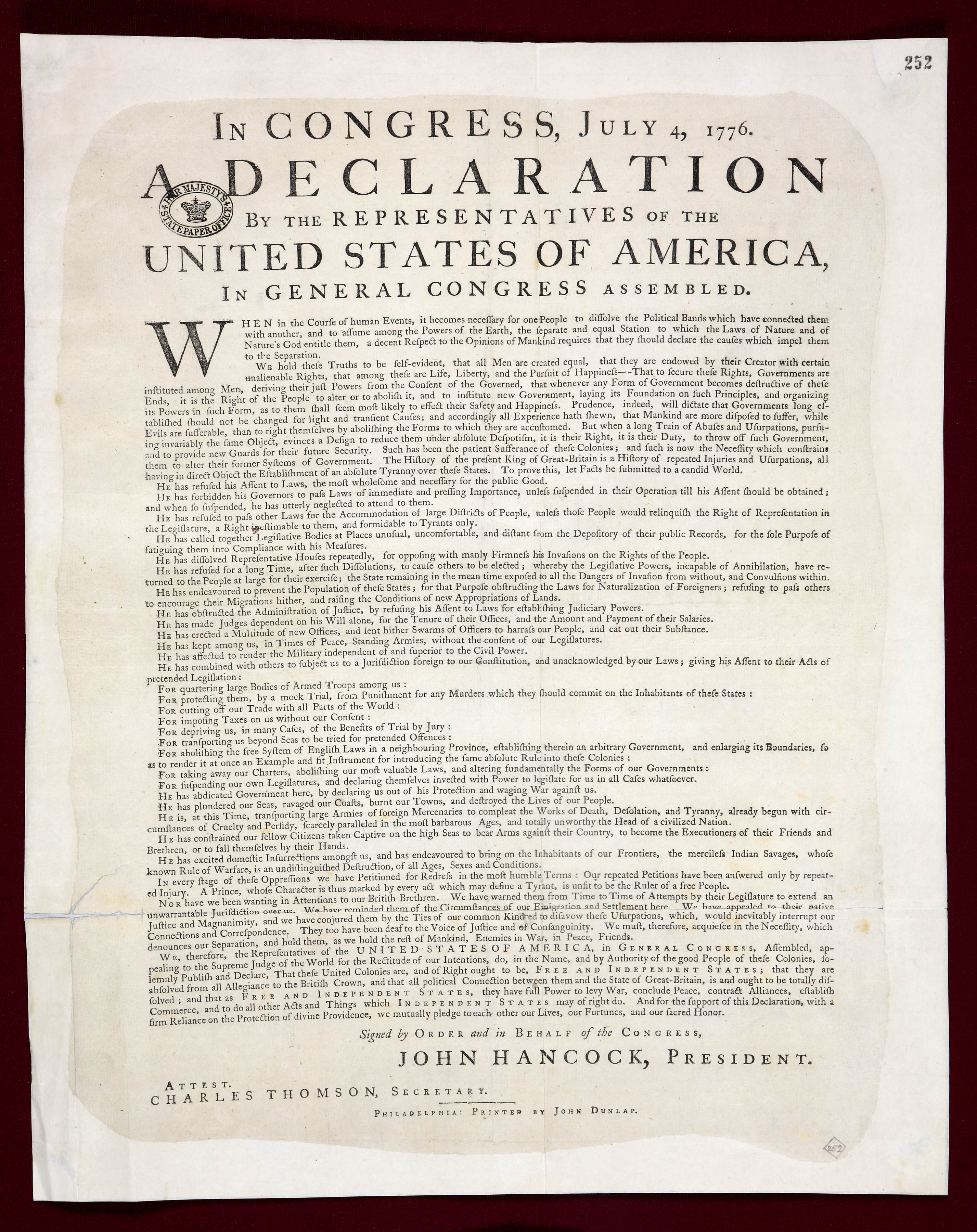 File The Declaration Of Independence National Archives Uk