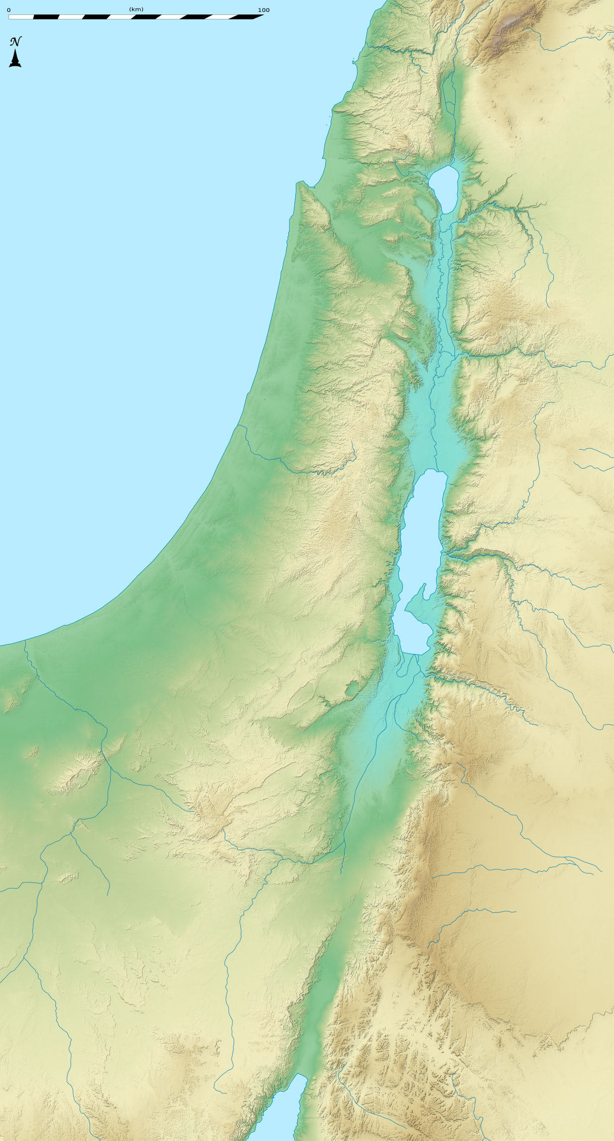 File Israel Relief Location Map Blank