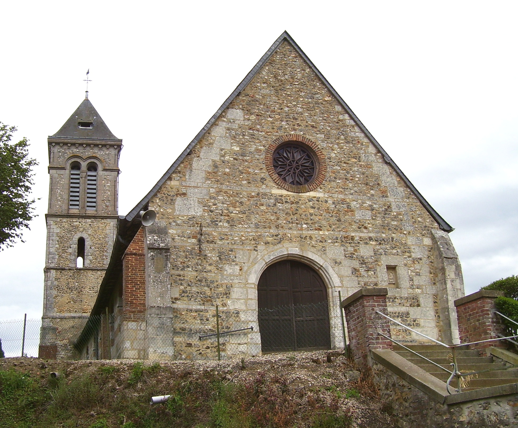Church of Saint-Georges-du-Vièvre, own photo (on commons), public domain