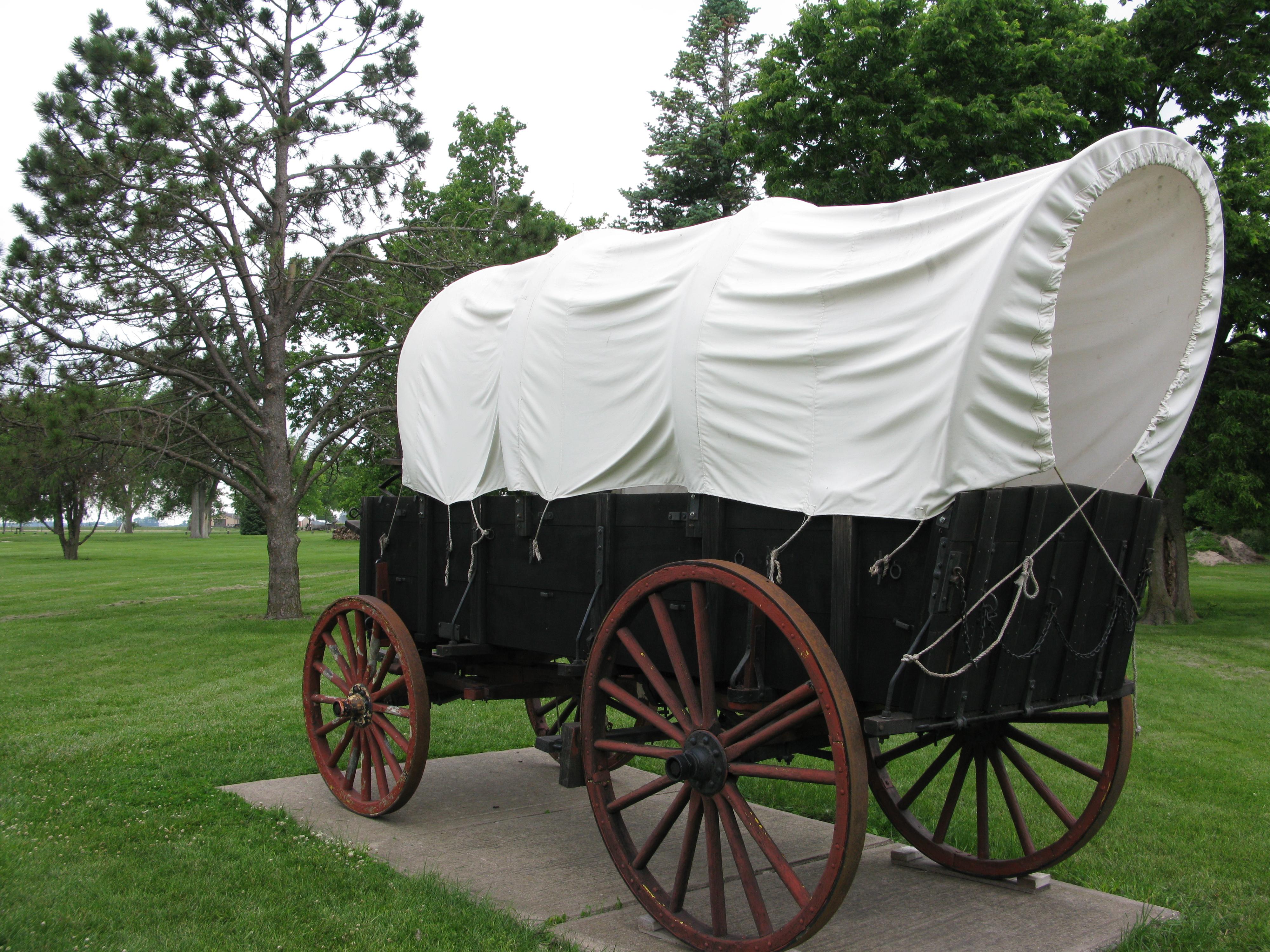 File Covered Wagon Display