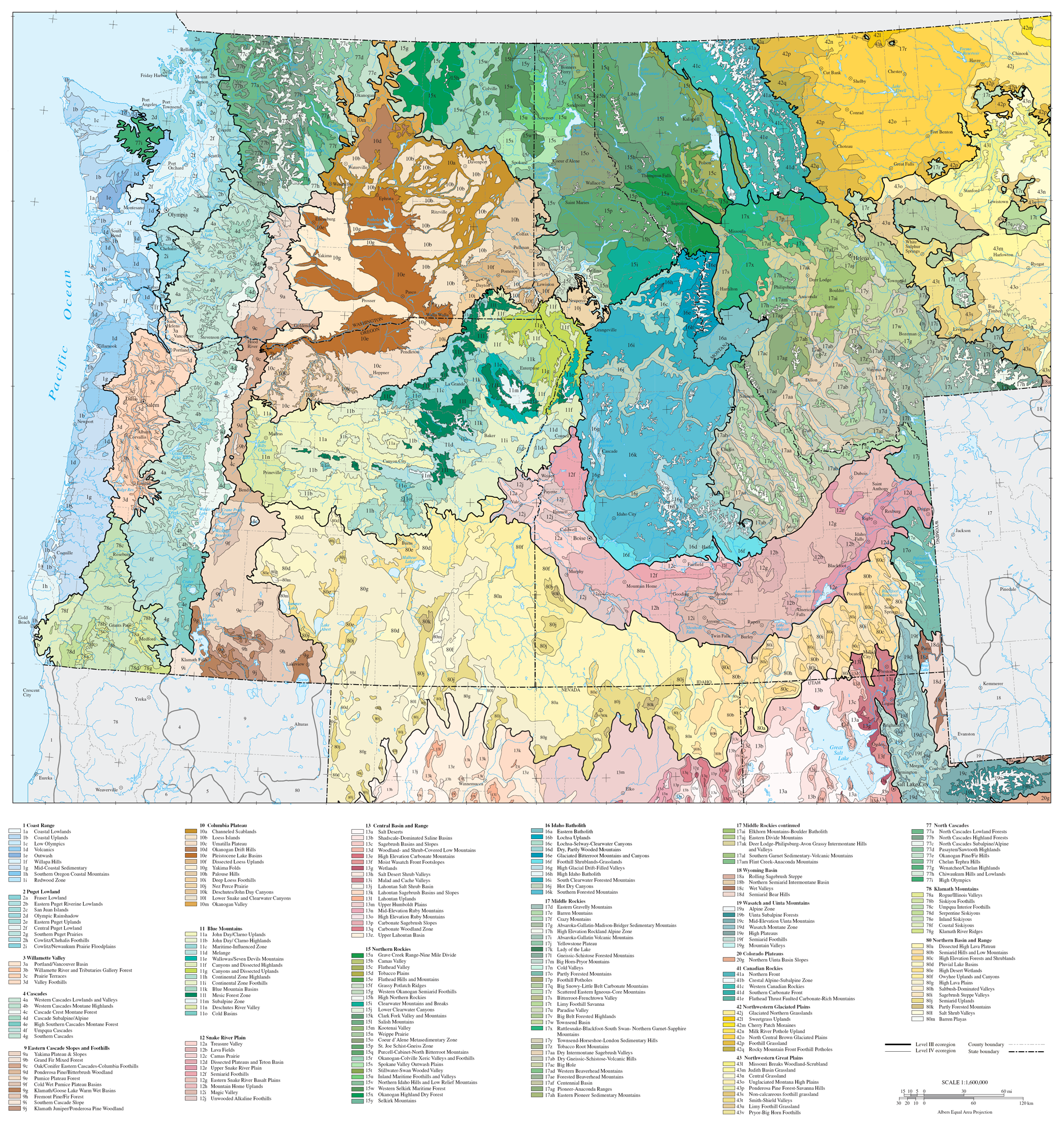 File Level Iv Ecoregions Pacific Northwest