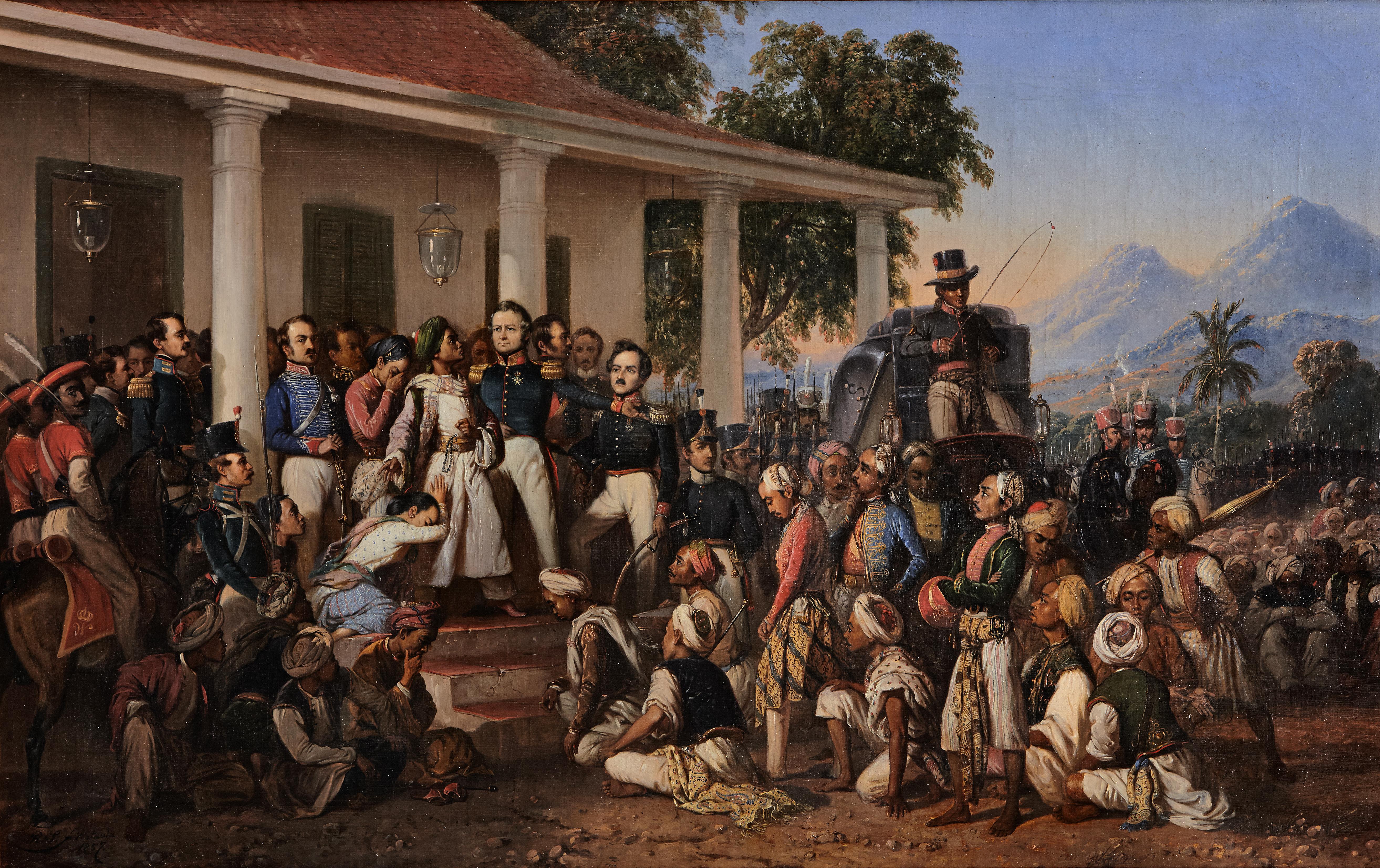 Lukisan Karya Raden Saleh, ilustrasi penangkapan Pangeran Diponegoro di Magelang