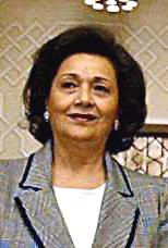 Português: A primeira-dama do Egito Suzanne Mu...