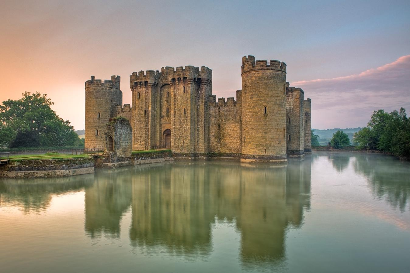 Bodiam Castle, East Sussex, England, UK.