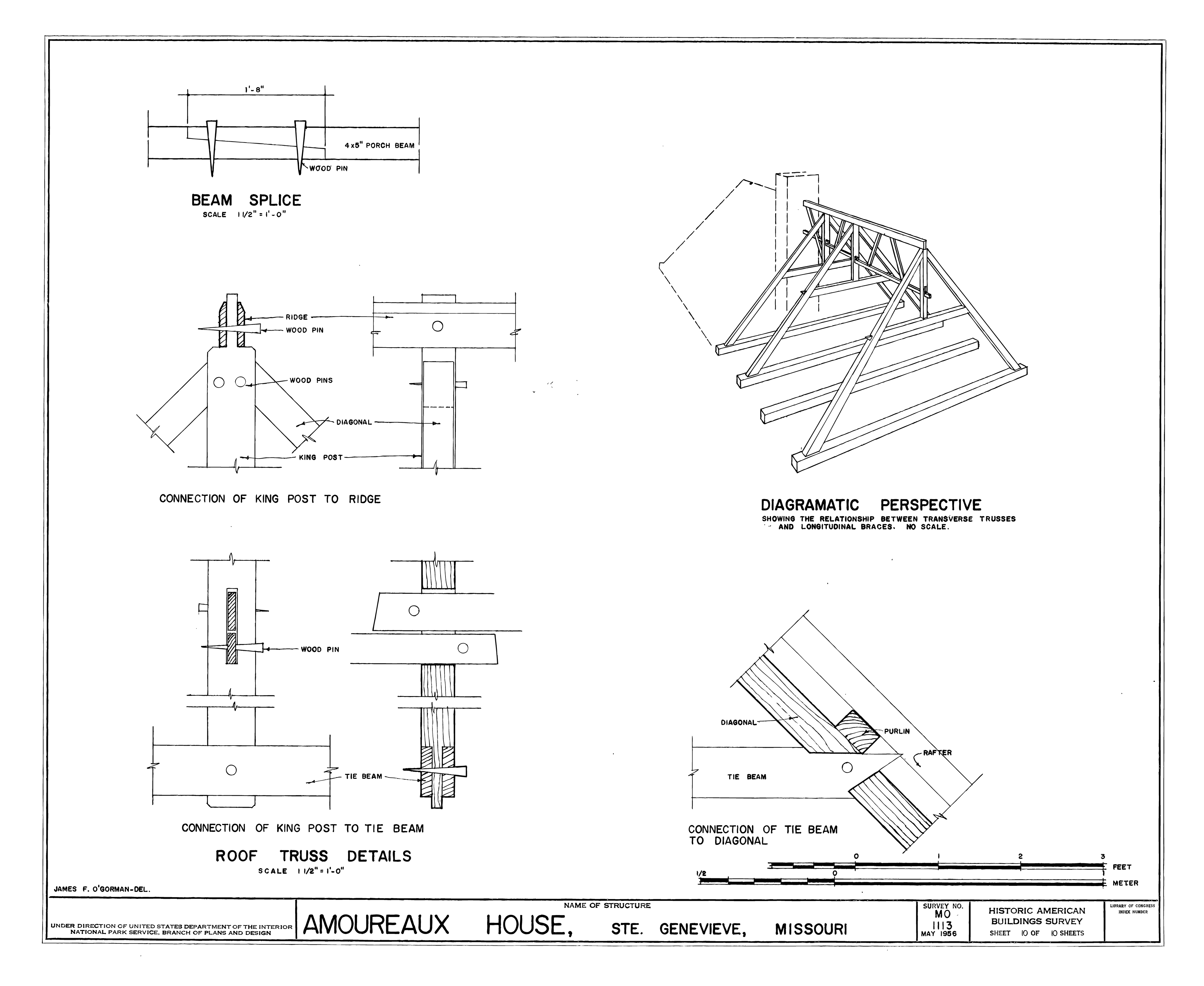 File Drawing Of The Norman Truss Of The Amoureaux House In