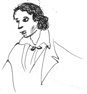 Sketch of John Keats.