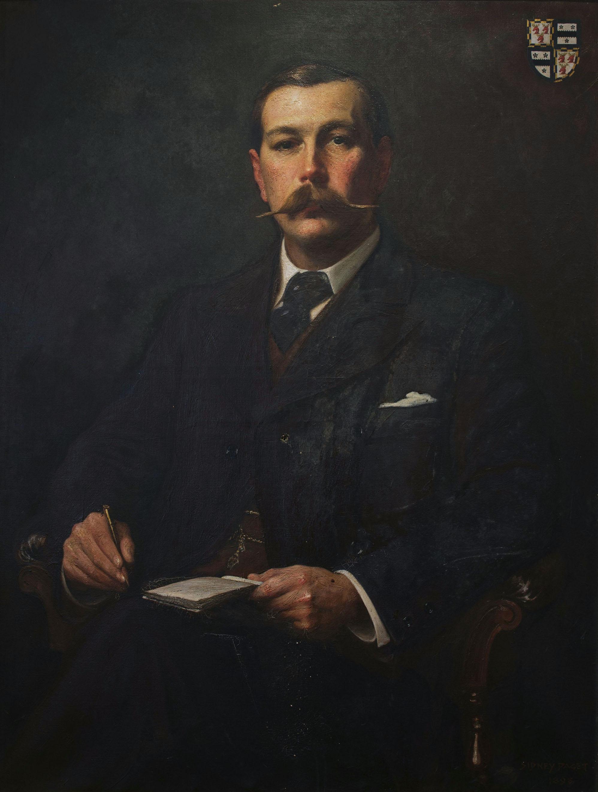 English: Portrait of Arthur conan doyle by Sid...