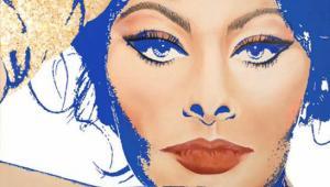 English: Portrait of Sophia Loren by Juan Kiti...
