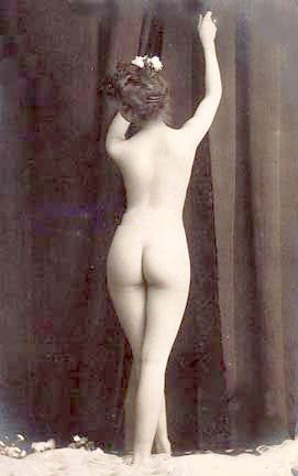 Photo of a female nude, about 1900. Model and ...
