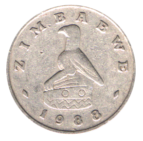 Reverse side of the defunct ten cent coin feat...
