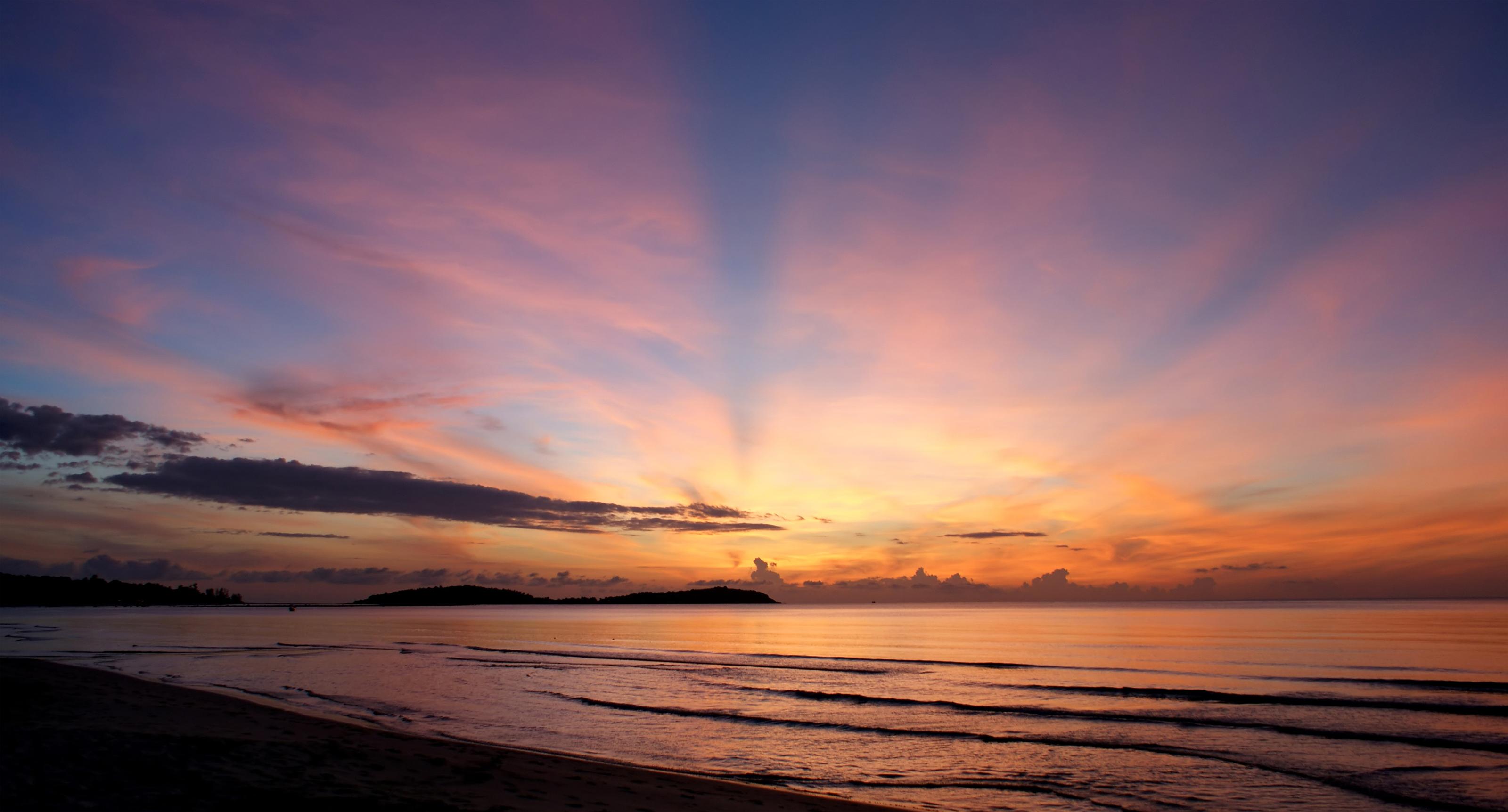 sunrise, euphoric, ray of light