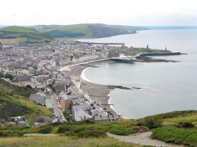 English: View of Aberystwyth from Constitution...
