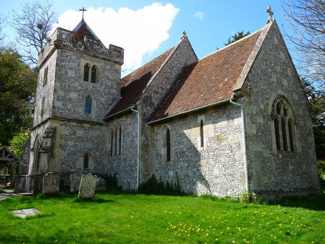Allington - St John The Baptist Church A flint built country church.