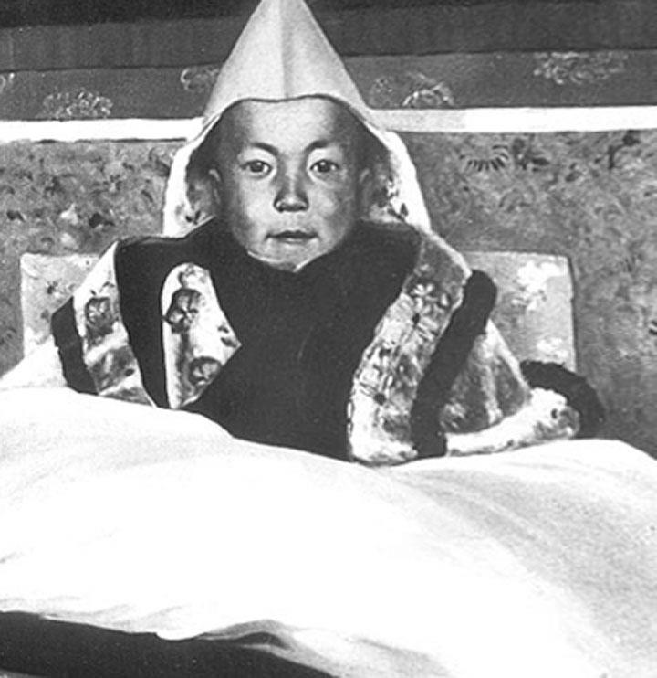 Dalai Lama Tenzin Gyatso as a boy.