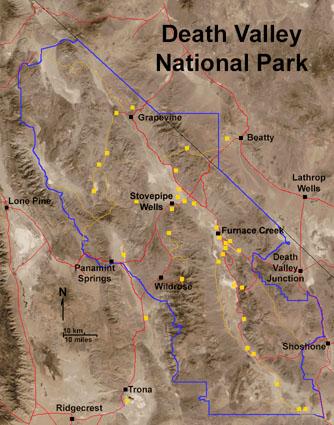 Mapa Death Valley