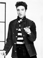 A photograph promoting the film Jailhouse Rock...