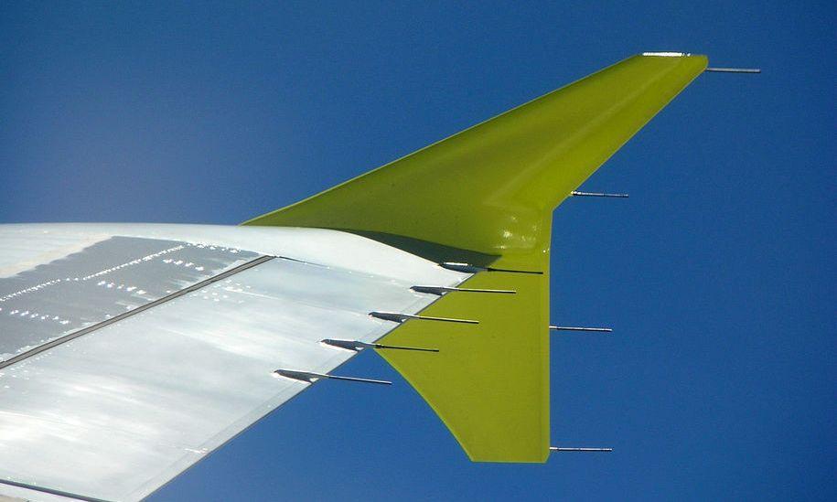 """Wingtip fence"" de un A319"