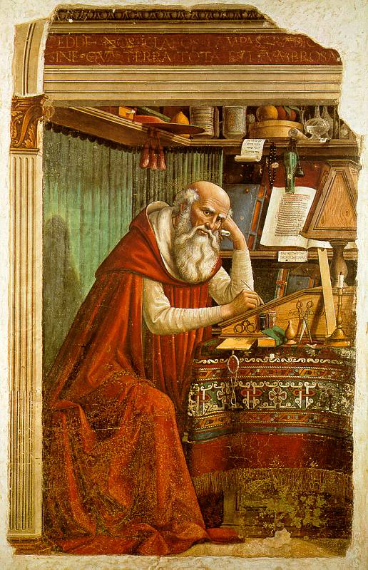 Saint Jerome in his Study (1480 — Church of Ognissanti, Florence)