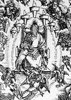 The Throne of God as painted by Albrecht Dürer.