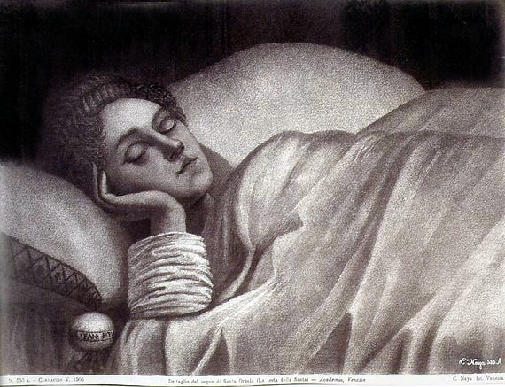 File:Naya, Carlo (1816-1882) - n. 553a - Carpaccio V. 1506 - Dettaglio del sogno di Santa Orsola (La testa della Santa) - Academia, Venezia.jpg