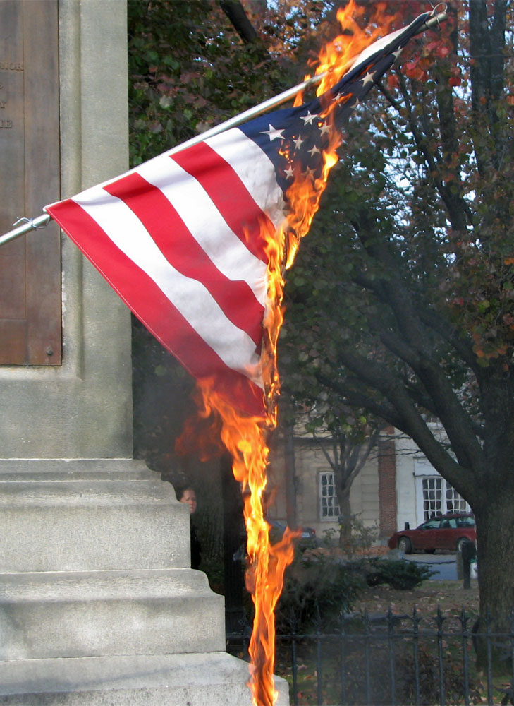 Image result for flag burning