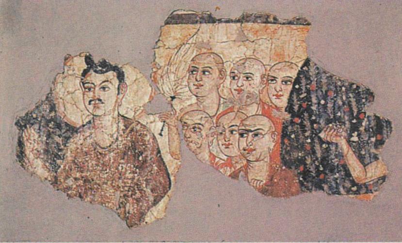 Fresco from Stupa shrine M III (Miran, China)