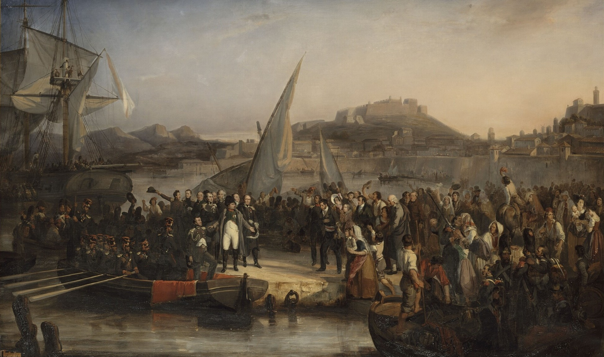 Napoleon leaving Elba, painted by Joseph Beaume.
