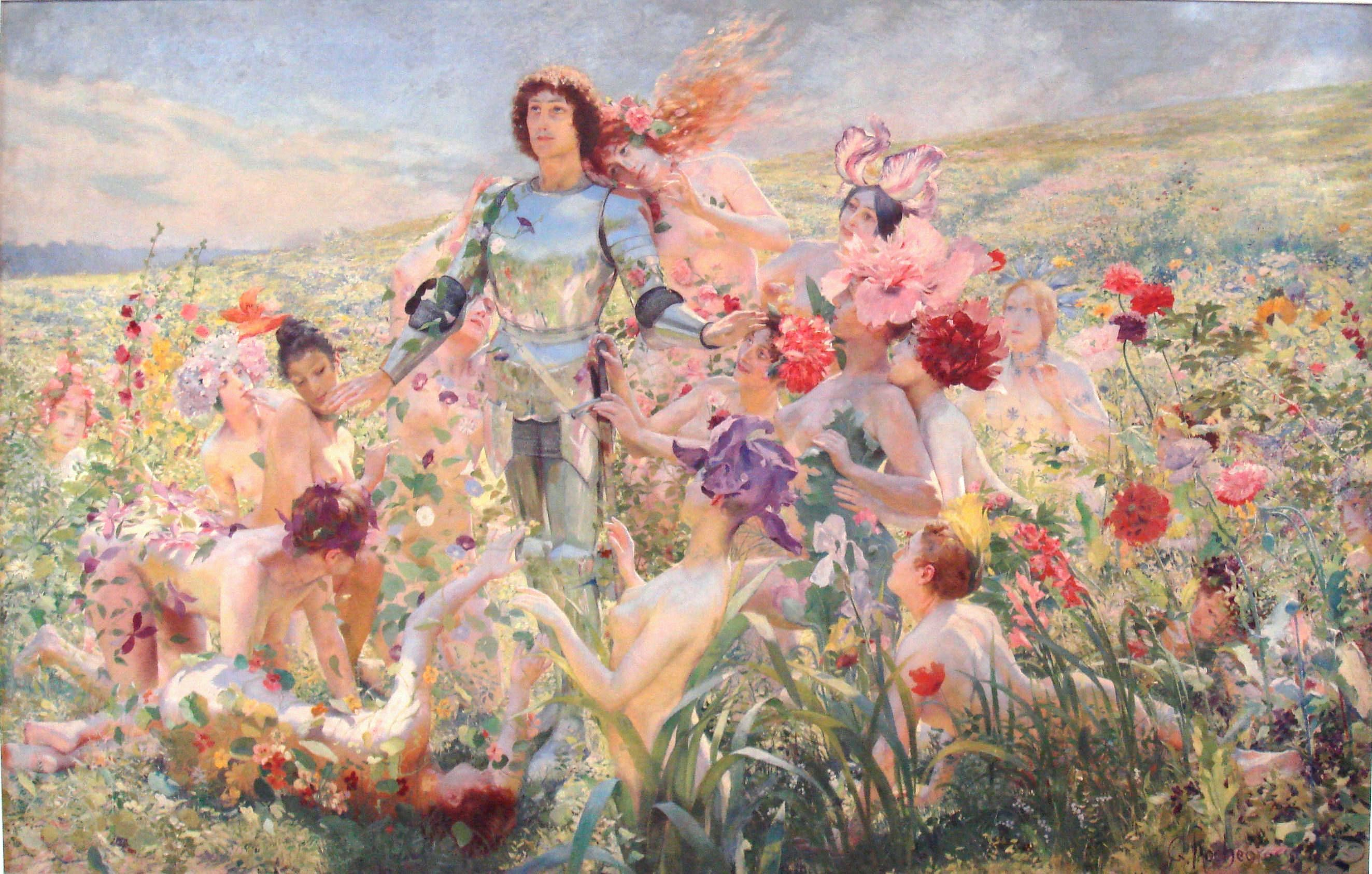 Knight Oil Paintings By Garden