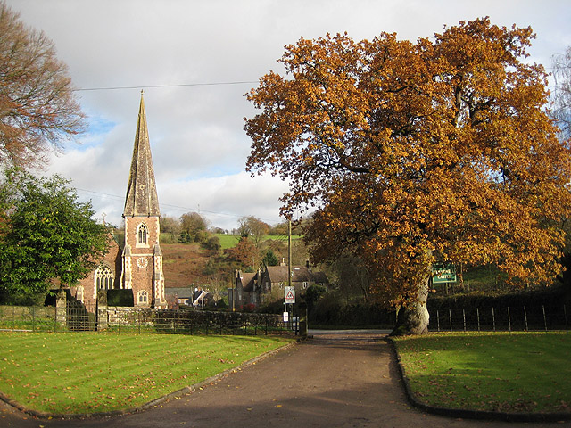 St Peter's Church, Clearwell Viewed from the driveway to Clearwell Castle.