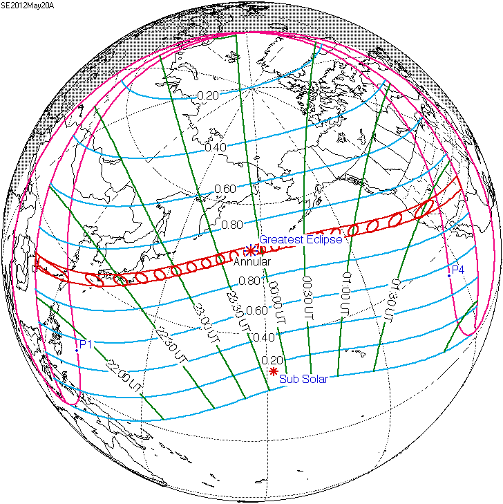 May 20, 2012 Solar Eclipse Path