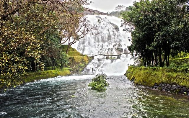 Bhandarna Umbrella Falls running stream greenery India Hill station