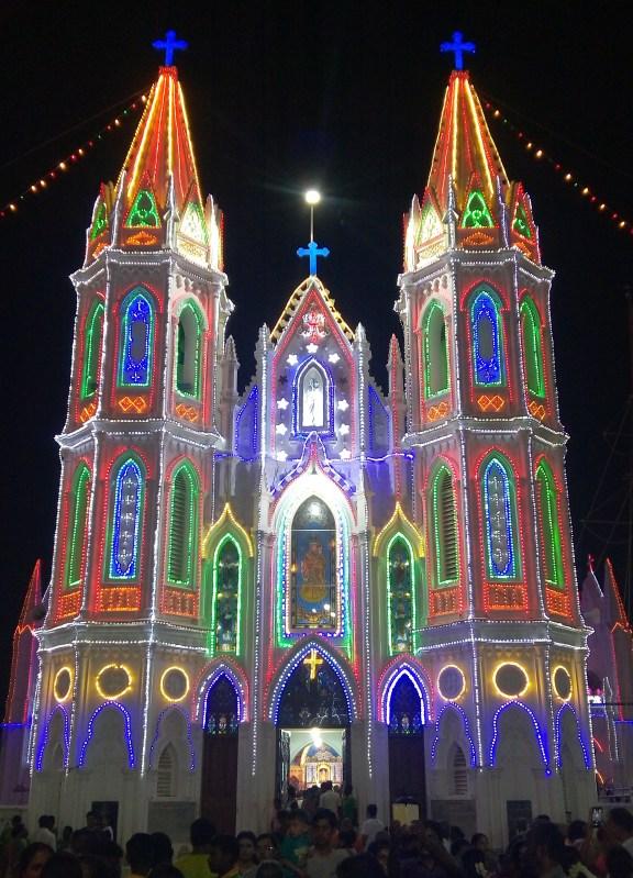 Velankanni church at Tamil Nadu