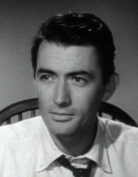 Cropped screenshot of Gregory Peck from the tr...