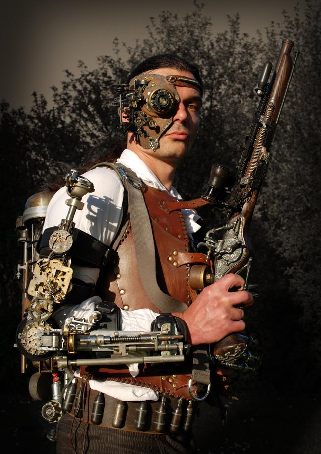 Steampunk outfit mask Futuristic Fashion