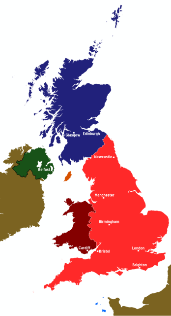 By (WT-shared) Paul. (Image:UK map.svg) [CC BY-SA 1.0 (https://creativecommons.org/licenses/by-sa/1.0)], via Wikimedia Commons