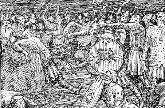 guerrero noruego contra guerrero escocés