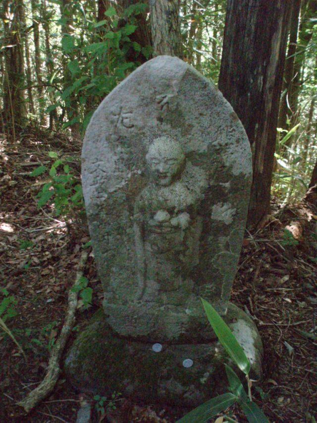 Jizo deity in Kumano Kodo pilgrimage route