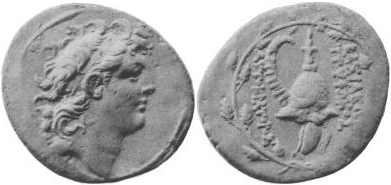 English: Coin of Diodotus Tryphon
