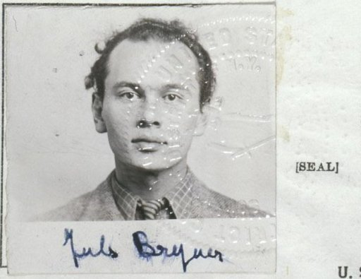 Yul brynner immigration portrait and seal