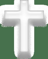 Symbol of Christianity, white version.