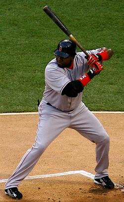 Image of David Ortiz, designated hitter on the...