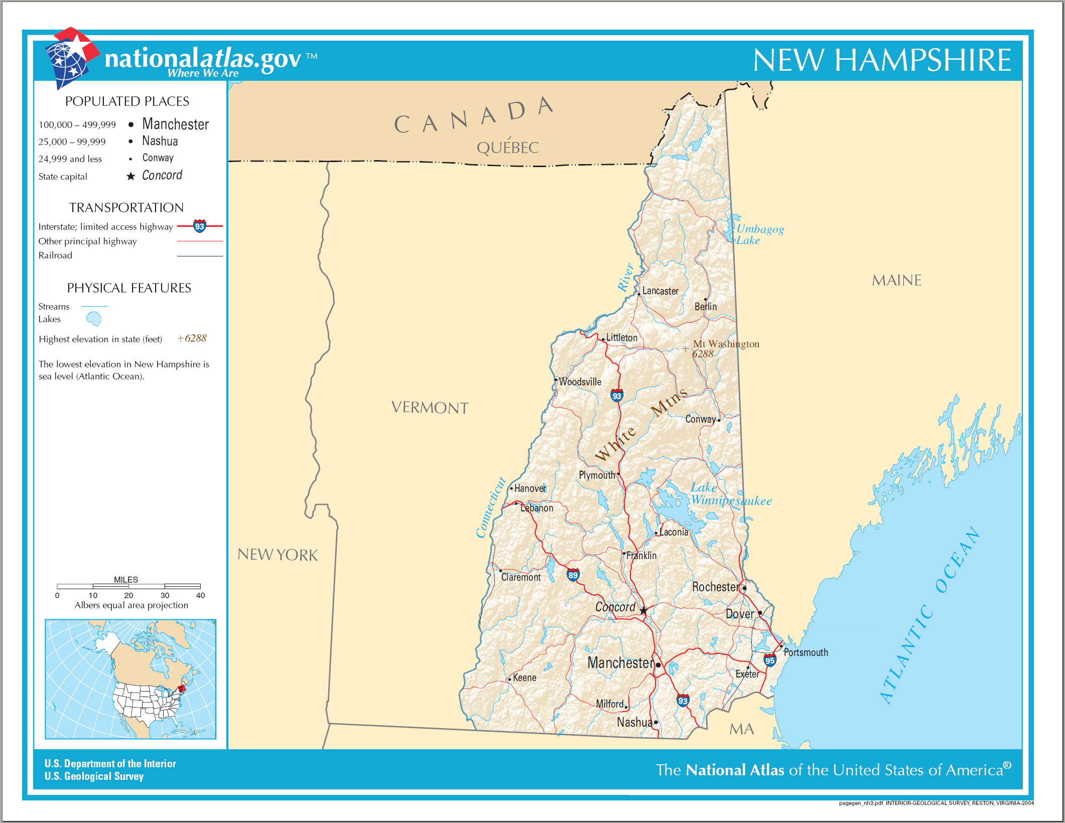 Outline Of New Hampshire