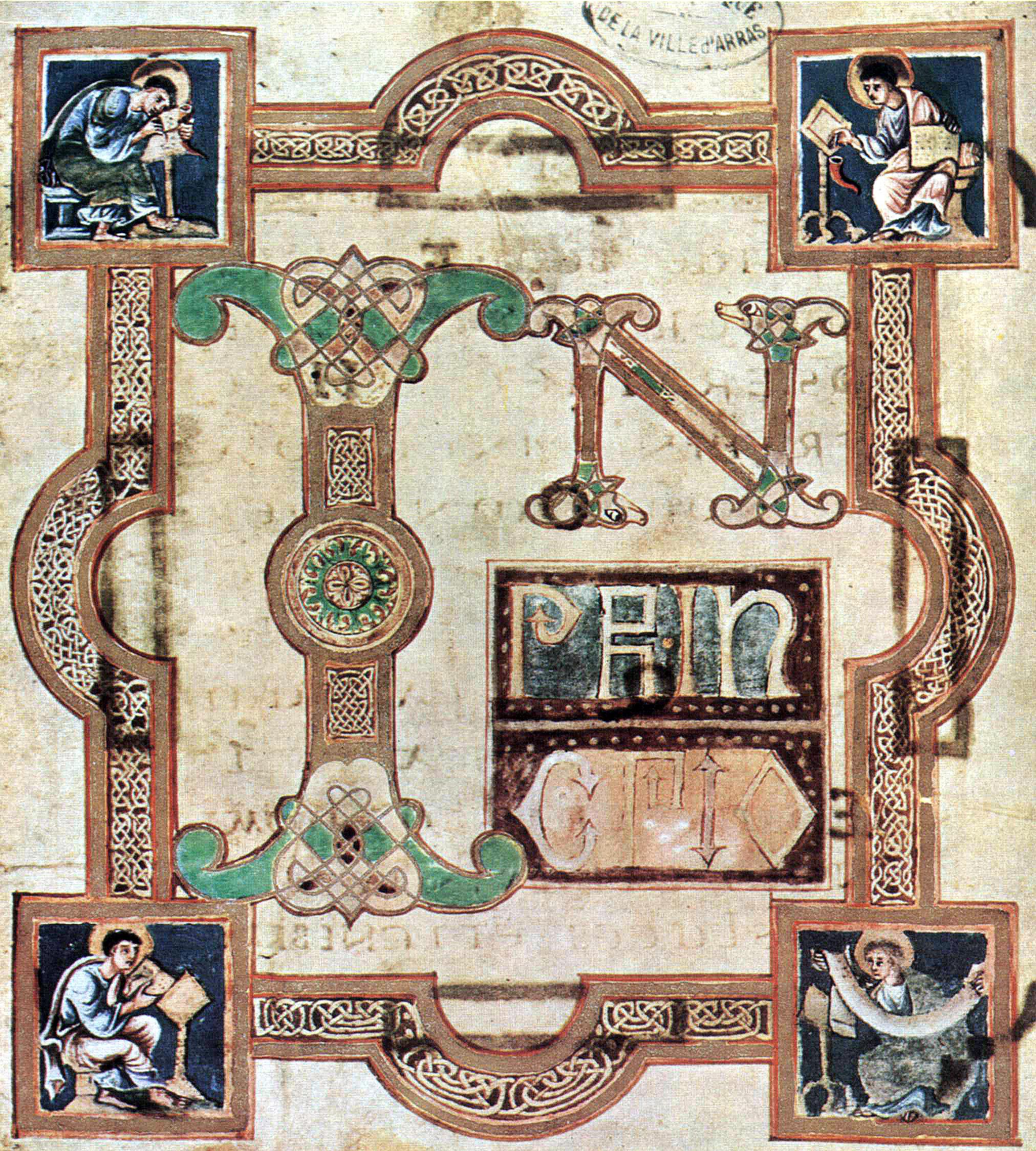 9th century gospel book