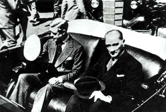Edward VIII and Mustafa Chilling Like Villains