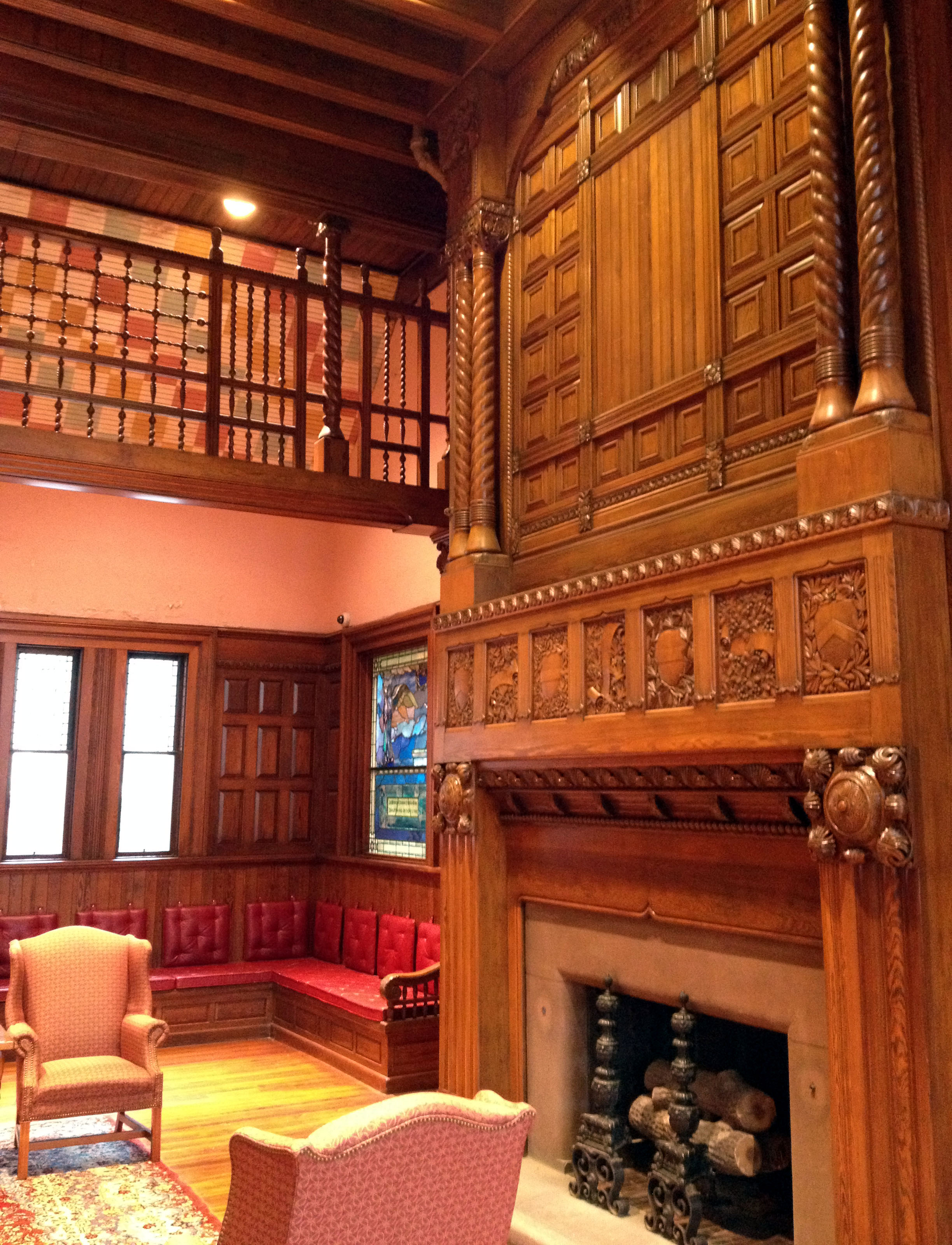FileThomas Crane Library Fireplace In Richardson Room
