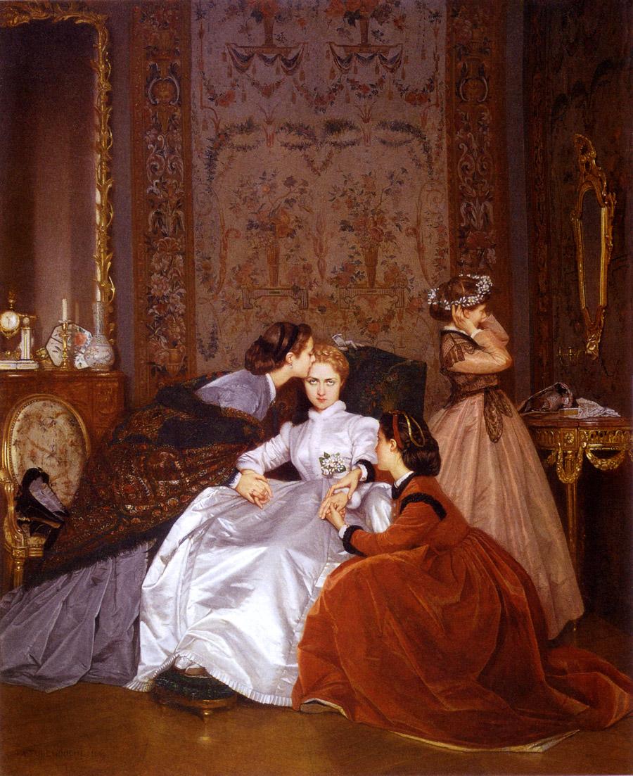La fiancée hésitante (1866) Auguste Toulmouche